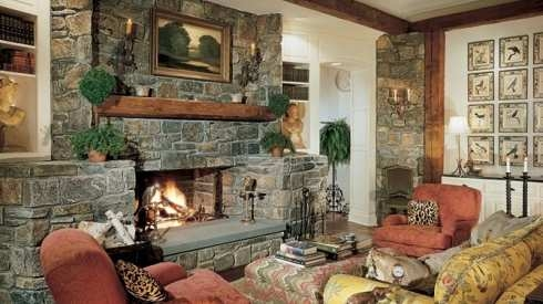 Masonry fireplace, photo courtesty of standout-fireplace-designs.com