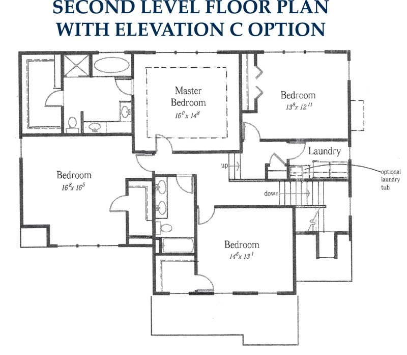 second floor - reverse elevation