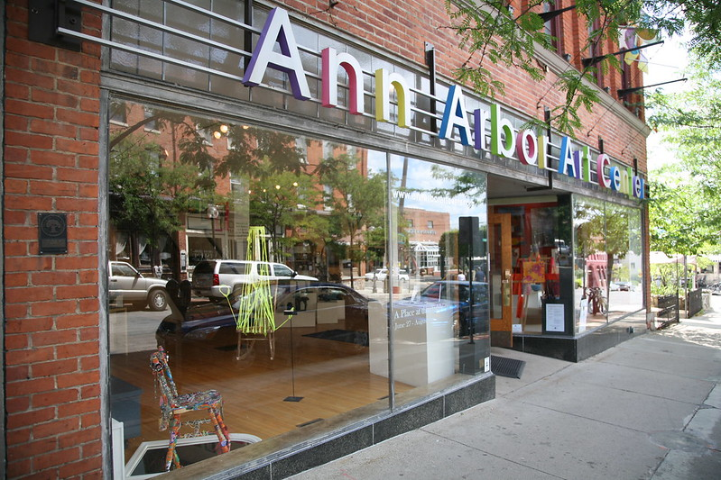 The outside of the Ann Arbor Arts Center